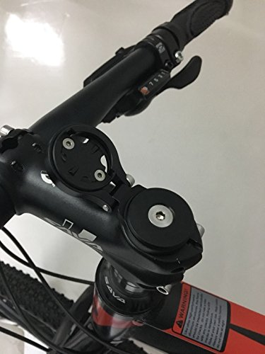 wileosix Bike Stem Mount&Out Front Bicycle Computer Combo Mount for Garmin Edge Cycling Computer,Adjustable
