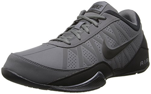 Nike Mens Air Ring Leader Basketball Shoe (Low) Dark Grey/Black - Shoes Go Basketball Low