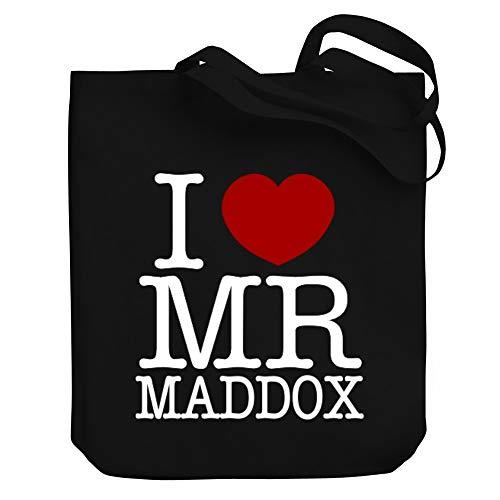 Teeburon I love Mr Maddox Canvas Tote Bag 10.5