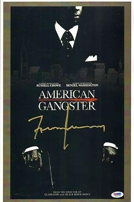 Frank Lucas Signed American Gangster Movie 11x17 Poster COA Autograph - PSA/DNA Certified by HollywoodMemorabilia