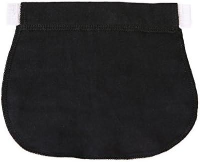 Healifty 妊娠中の女性や妊娠中の母親のための3本の弾性パンツウエストエクステンダマタニティパンツエクステンダ(ブラック)
