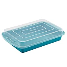SilverStone Bakeware 9-Inch x 13-Inch Covered Cake Pan, Marine Blue