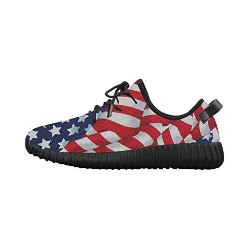 D-histoire Américain Drapeau Grus Hommes Boost Chaussures Boost Espadrilles Énergie Bounce Respirable Tissé Chaussures De Course Hommes