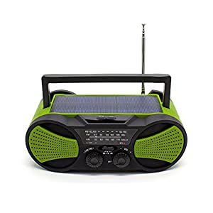 41KyFLqeRDL. SS300  - NOAA Weather Radio, Crank Radio, Audio Speaker, RunningSnail AM/FM Emergency Radio with 4000mAh Battery, 1W Flashlight, 4LED Reading Lamp,1W Solar Panel Charger, SOS Alarm (Green)
