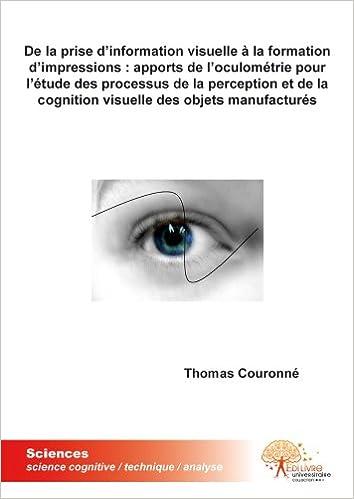 Livre De la prise d'information visuelle à la formation d'impressions pdf, epub