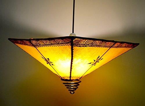 Pantalla para lámpara de techo diseño de phyllida coroneo Henna - molde cuadrado para - amarillo Di 40 cm: Amazon.es: Iluminación