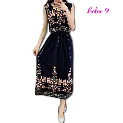 23c17cfa2ac06 wyfeay SOLEDI® Vintage Women Summer Bohemian Dress Beach Boho ...
