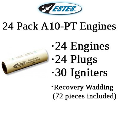 Estes A10-PT Model Rocket Engines (24 pack)