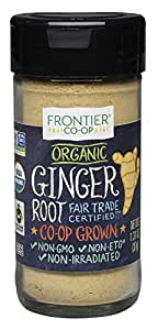 Frontier Organic Powder, Ginger Root, 1.31 Ounce