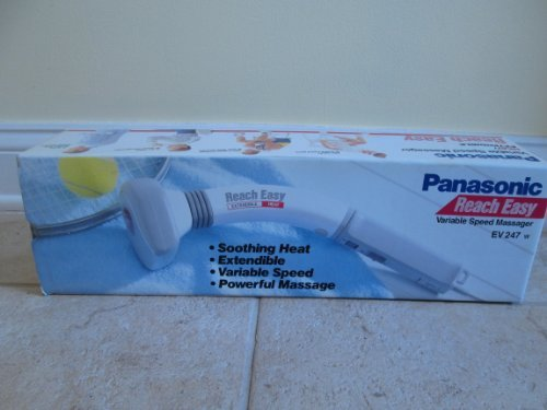 Panasonic Panabrator Reach Easy Extendible Variable Speed Massager with Heat EV 247
