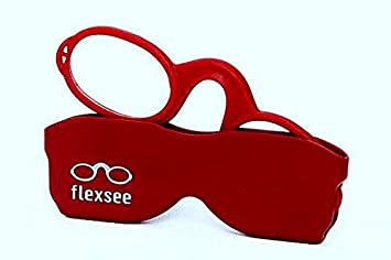 f9f04abb329e Image Unavailable. Image not available for. Color  Flexsee Retro +1 Pince-nez  Reading Glasses ...