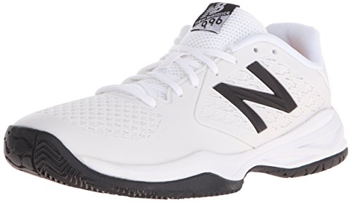 New Balance KC996 Youth Tennis Shoe (Little Kid/Big Kid), White/Silver, 4 W US Big Kid (New Balance Tennis Shoes For Kids)