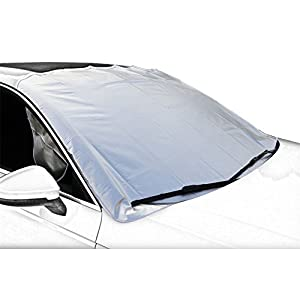 Car Sun Shade,Windshield Sun Cover,Car Snow Cover,Frost Car Windshield Snow Cover,Frost Guard Protector,Ice Cover,Ultra Durable Weatherproof Design,for Most Cars/SUV, NO PAINT SCRATCHING HOOD MAGNETS