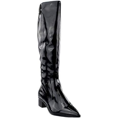 Dolce Vita Women's Morey Fashion Boot, Onyx Patent Stella, 9.5 Medium US by Dolce Vita