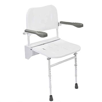 NRS Healthcare - Silla de ducha plegable con patas y asiento ...