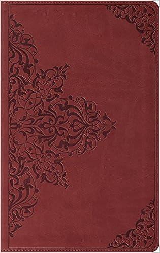 Esv Thinline Bible Trutone Nutmeg Filigree Design Red Letter