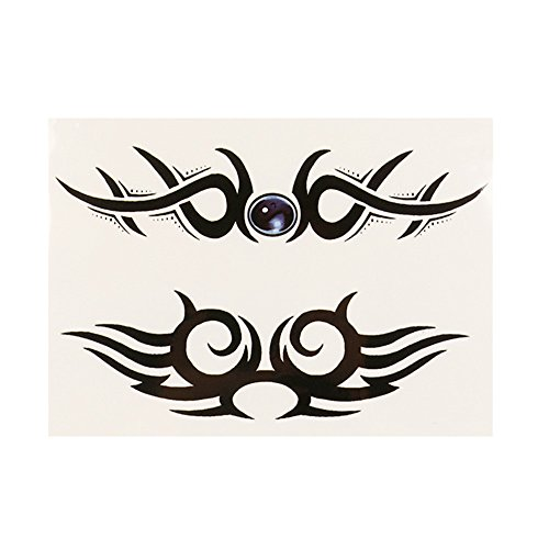 Topgee Fashion Temporary Tattoos Body Sticker Tattoo Paper Fake Tatoo Waterproof Body Stickers Halloween Chrismas Style Patterns for Man -