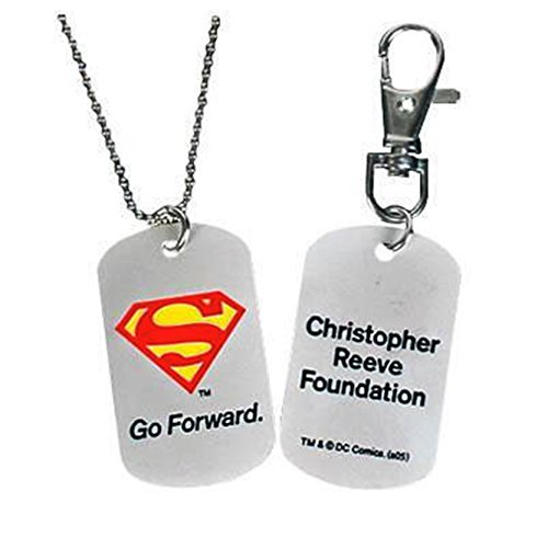 Pendant Dog Tag Combo (Superman Christopher Reeve Foundation Superman Dog Tag Key Chain Combo Bundle)
