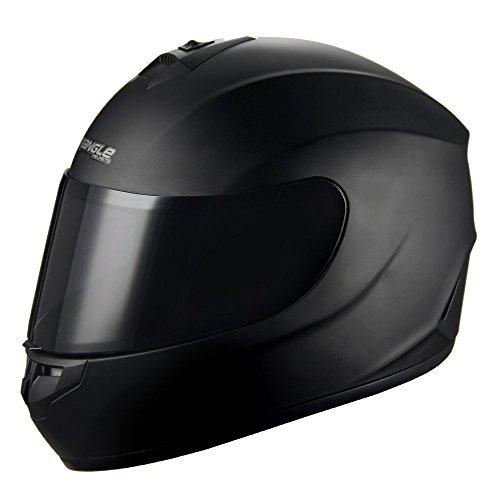 "Triangle Motorcycle Helmets Full Face ""Graffiti Cross"" Street Bike [DOT] (Large, Matte Black)"