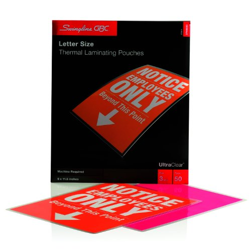 Swingline GBC UltraClear Thermal Laminating Pouches, Letter