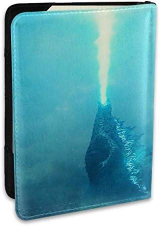 Godzilla Trailer Right Now ゴジラ モンスター パスポートケース メンズ レディース パスポートカバー パスポートバッグ ポーチ 6.5インチ PUレザー スキミング防止 安全な海外旅行用 収納ポケット 名刺 クレジットカード 航空券