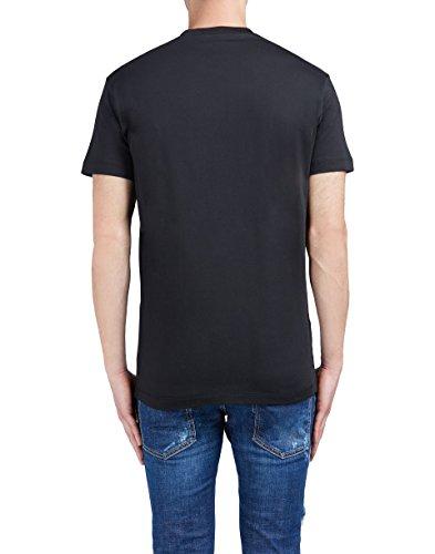Dsquared2 Herren S74GD0239S23009900 Schwarz Baumwolle T-Shirt