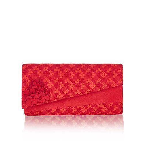 Ruby Shoo , Damen Clutch Rot rot Einheitsgröße