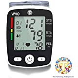The Thor.co.ltd Voice Digital LCD Automatic Wrist Blood Pressure Pulse Monitor