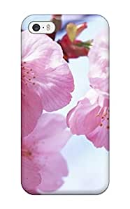Rugged Skin Case Cover For Iphone 5/5s- Eco-friendly Packaging(pink Spring Flowers)