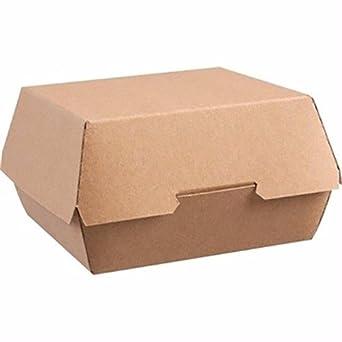 ColPac ge803 desechables papel Kraft cajas de hamburguesa, Large ...
