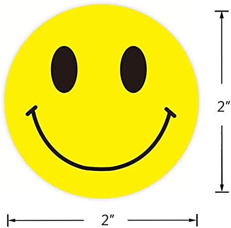 LABEL/&MORE Smiley Face Stickers 1.5 Round Happy Face Sticker Circle Dots Teacher Reward Stickers Yellow dots 500//Pack