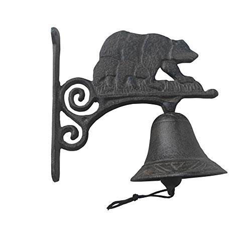 Comfy Hour Cast Iron Wall Decorative Bell - Bear, Brown