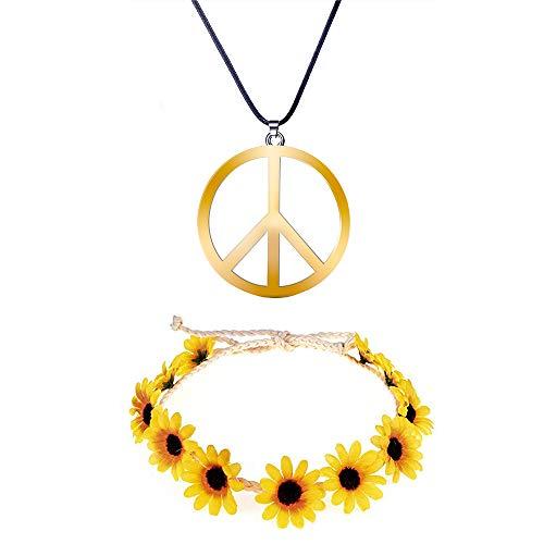 Lyric U Peace Necklace Hippie Dressing Accessories Set