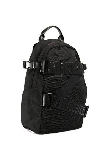 Bikkembergs mochila Unisex Cremallera Logoed Tecno Black