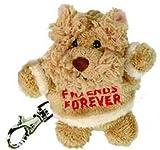 Bukowski Soft Plush Friends Forever Dog Brown Puppy Keyring Stuffed Animal Toy 3