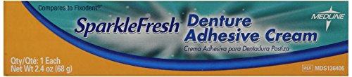 medline MDS136406 SparkleFresh Latex Free Denture Adhesiv...