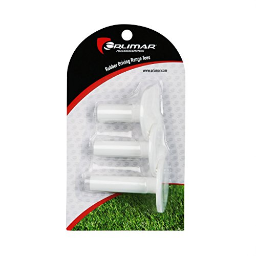 Tee Golf Rubber - Orlimar Rubber Driving Range Tees (3 Pack)