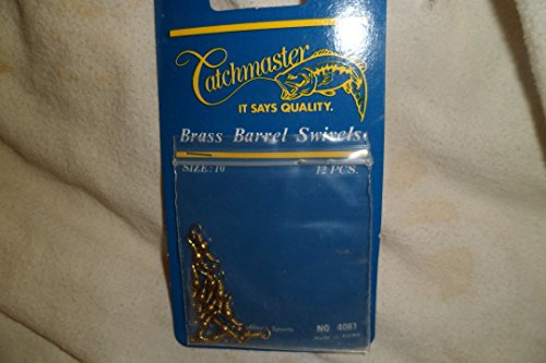Catchmaster Brass Barrel Swivels Size 10 12 Pieces