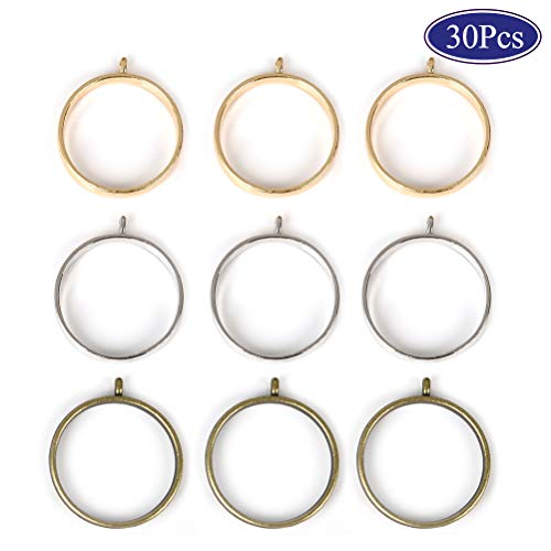OBSEDE Round Frame Pendants Bezel Charms Open Back Bezel Hollow Mold Pressed Flower for Resin Earrings Necklace 25mm 30pcs