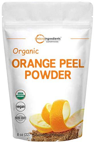 Organic Orange Peel Powder, 8 Ounce, Rich in Antioxidants and Vitamin C, No GMOs and Vegan Friendly (Foods Rich In Antioxidants And Vitamin C)