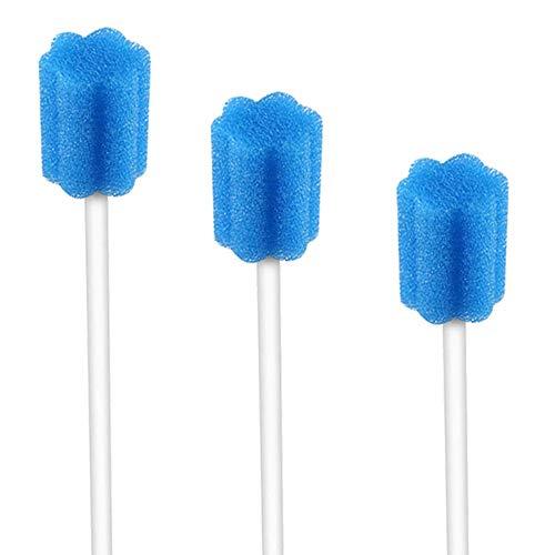 Wellgler's Disposable Oral Swabs, Sterile Sponge Mouth Swabs (250pcs, blue)