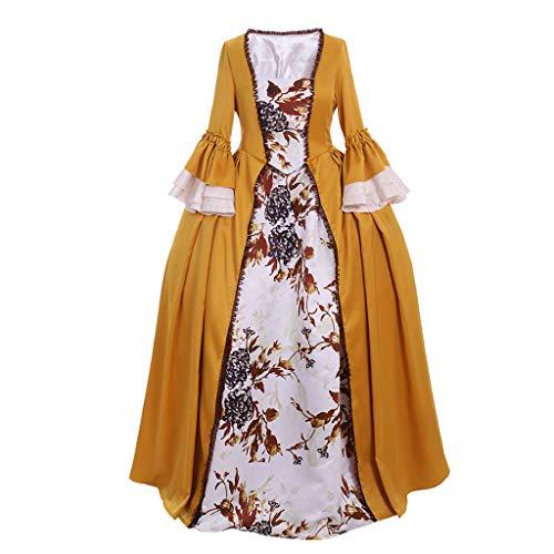 1791's lady Women's Victorian Rococo Dress Inspiration Maiden Costume NQ0032 (XL:Height65-67 Chest42-43 Waist33.5-35