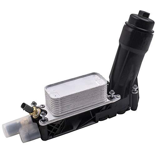 Ensun Engine Oil Cooler Housing Filter for 2011-2013 Chrysler Dodge Jeep 3.6L V6 Engine # 5184294AE