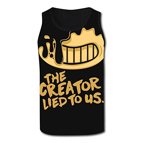Ollip41 Men's The Creator Lied to Us Tank Top Sleeveless T-Shirts Casual Sports Tank Tops for Men
