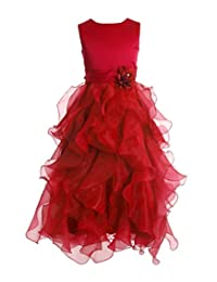 FAIRY COUPLE Girl's Ankle Length Cascading Layered Pageant Party Dress K0172
