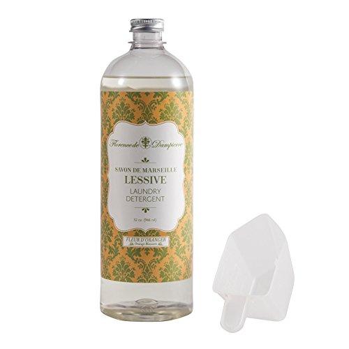 Florence de Dampierre 64 Load, All-Natural Savon de Marseille Soap, Liquid Laundry Detergent, 32 oz. Orange Blossom