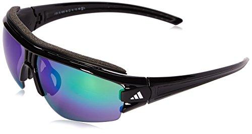 adidas Evil Eye Halfrim Pro S A198 6090 Rectangular Sunglasses, Black Shiny & Black, 66 - Evil Eye Sunglasses Pro Adidas Halfrim