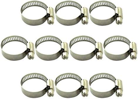 D DOLITY 10個チューブクランプ自作フィットチューブO.Dハンドルクランプステンレス鋼ホース - 22〜32mm
