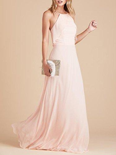Lange Lavendel Abschlussball 229 Brautjungfern Ball Elegant Hoher Hals Abiball Abendkleider Kleider 4rvgp4