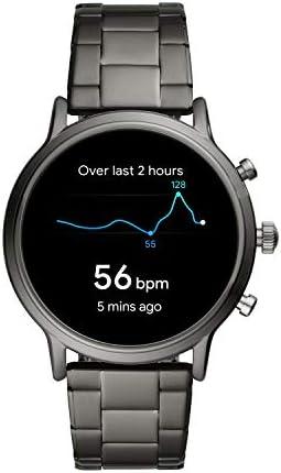 Fossil Gen 5 Carlyle Reloj inteligente con pantalla táctil de acero inoxidable con altavoz, frecuencia cardíaca, GPS, NFC y notificaciones de smartphone 10